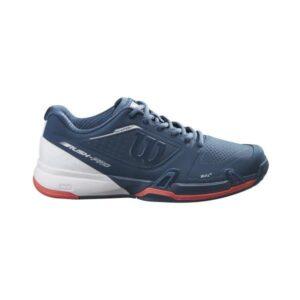 Wilson Rush Pro 2.5 AC Womens Tennis Shoes - Majolica Blue/White/Hot Coral