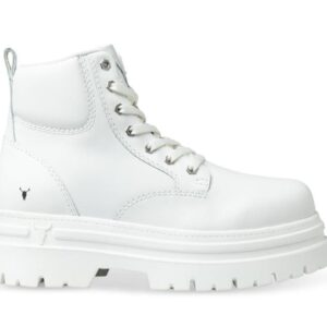 Windsor Smith Womens Attitude Boot White Leather