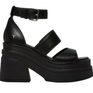 Windsor Smith Womens Match Sandal Black Leather