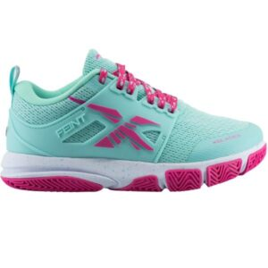 XBlades Feint - Kids Netball Shoes - Tiffany Blue/Candy Pink
