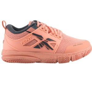 XBlades Feint - Kids Netball Shoes - Papaya Punch/Storm Grey