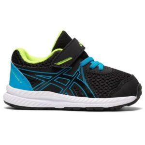 Asics Contend 7 TS - Toddler Running Shoes - Black/Digital Aqua