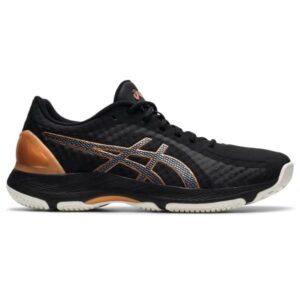 Asics Netburner Super FF - Womens Netball Shoes - Black/Pure Bronze
