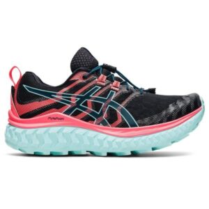 Asics Trabuco Max - Womens Trail Running Shoes - Black/Blazing Coral