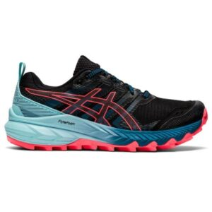 Asics Gel Trabuco 9 - Womens Trail Running Shoes - Black/Blazing Coral