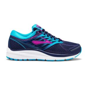 Brooks Addiction 13 - Womens Running Shoes - Evening Blue/Teal Victory/Purple Cactusflower