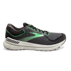 Brooks Transcend 7 - Womens Running Shoes - Black/Ebony/Green