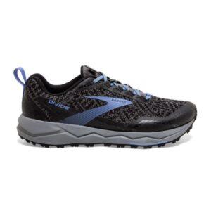 Brooks Divide - Womens Trail Running Shoes - Grey/Black/Cornflower Blue