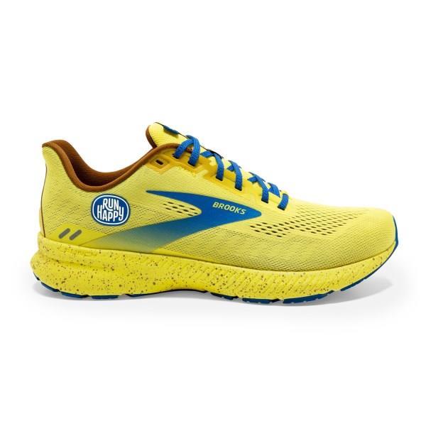 Brooks Launch 8 - Womens Running Shoes - Golden Kiwi/Pale Ban/Vic Blue