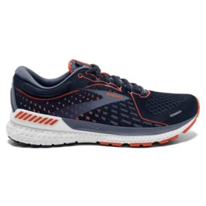 Brooks Adrenaline GTS 21 - Mens Running Shoes - Navy/Red Clay/Grey
