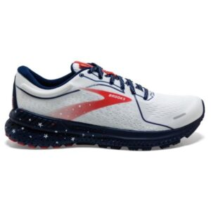 Brooks Adrenaline GTS 21 - Mens Running Shoes - White/Blue/Red