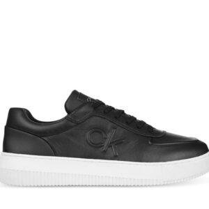 Calvin Klein Calvin Klein Mens Leather Chunky Sole Sneaker Black