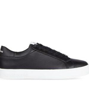 Calvin Klein Calvin Klein Mens Leather Cupsole Sneaker Black