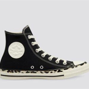 Converse Converse Womens Chuck Taylor All Star High Edged Leopard Black
