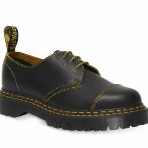 Dr Martens Dr Martens 1461 Bex Double Stitch Shoe Black+Yellow