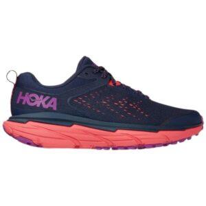 Hoka One One Challenger ATR 6 - Womens Trail Running Shoes - Black Iris/Hot Coral