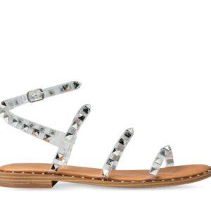 ITNO ITNO Womens Monika Studded Sandal Clear Natural