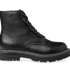 ITNO ITNO Womens Lugg Boot Black Pebble Leather