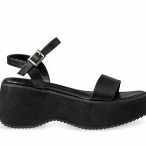 ITNO ITNO Womens Aaliyah Sandal Black Leather