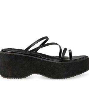 ITNO ITNO Womens Amaya Sandal Black Black Leather