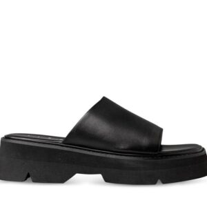 ITNO ITNO Womens Mya Mule Black Black Leather