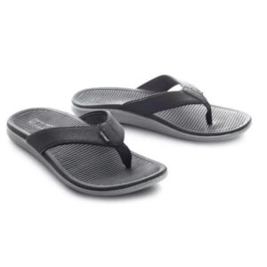 Lightfeet ReCharge Mens Recovery Thongs - Black/Charcoal