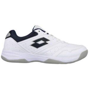 Lotto Court Logo XVIII - Mens Court Shoes - White/Navy