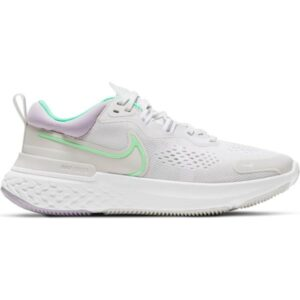 Nike React Miler 2 - Womens Running Shoes - Platinum Tint/Green Glow