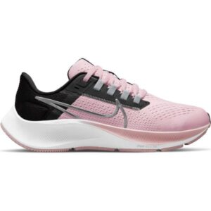 Nike Air Zoom Pegasus 38 GS - Kids Running Shoes - Pink Foam/Metallic Silver/Black