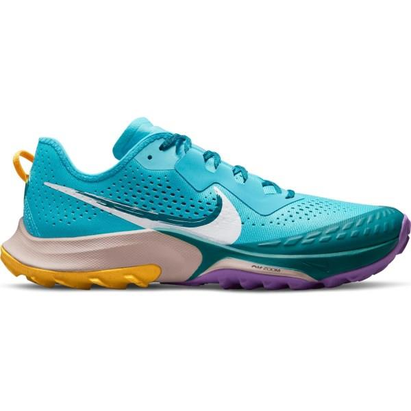 Nike Air Zoom Terra Kiger 7 - Mens Running Shoes - Torquoise Blue/White/Mystic Teal