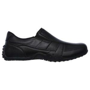 Skechers Elston Kasari - Mens Slip Resistant Work Shoes - Black