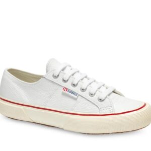 Superga Superga Mens 2490 Tumbled Leather 001 White
