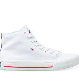 Tommy Hilfiger Tommy Hilfiger Mens Mid Top Flag Sneaker White