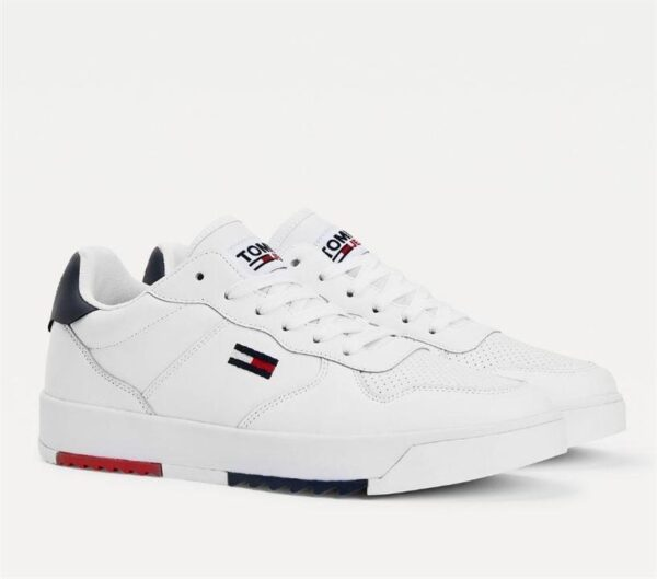 Tommy Hilfiger Tommy Hilfiger Mens Cleated Cupsole Sneaker White