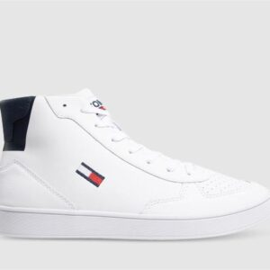 Tommy Hilfiger Tommy Hilfiger Mens Essential Leather Cupsole Hightop White