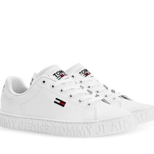 Tommy Hilfiger Tommy Hilfiger Womens Metallic Logo Sneakers White