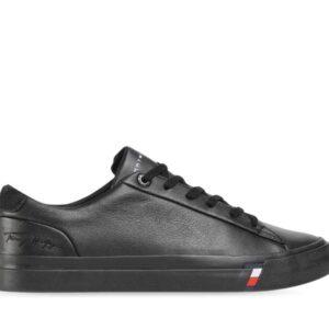Tommy Hilfiger Tommy Hilfiger Mens Corporate Leather Sneaker Black