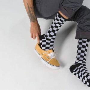 Vans Vans Checkerboard Crew Sock II 6.5-9 Black & White