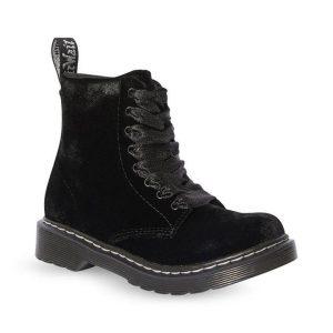 Dr Martens Dr Martens Junior 1460 Velvet Boot Black