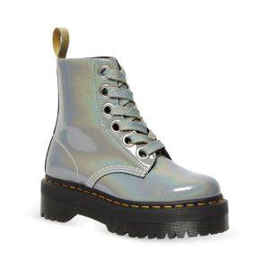 Dr Martens Dr Martens Vegan Molly Rainbow Boot Multi Silver