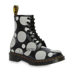 Dr Martens Dr Martens 1460 Polka Dot Boot Black