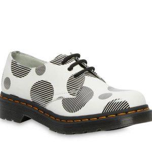 Dr Martens Dr Martens 1461 Polka Dot Shoe White