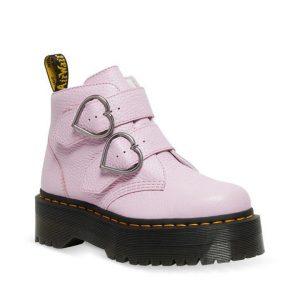Dr Martens Dr Martens Devon Heart Platform Boot Pink
