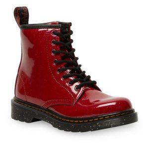 Dr Martens Dr Martens Juniors 1460 Glitter Boots Red