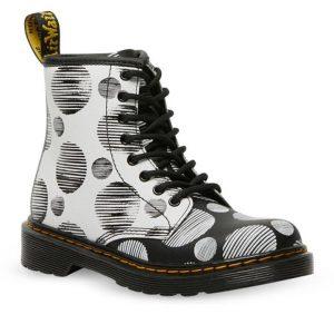 Dr Martens Dr Martens Junior 1460 Polka Dot Boot White