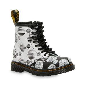 Dr Martens Dr Martens Toddler 1460 Polka Dot Boot Black