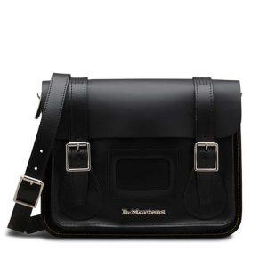 Dr Martens Dr Martens 11″ Leather Satchel Black