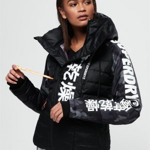 Superdry Snow Japan Edition Snow Down Jacket Black Camo