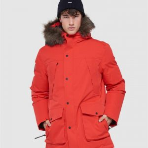 Superdry Snow Everest Down Snow Parka. Apple Red