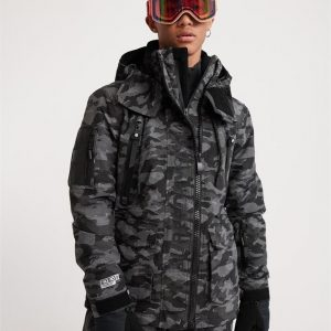 Superdry Snow Ultimate Snow Rescue Jacket Black Dot Camo